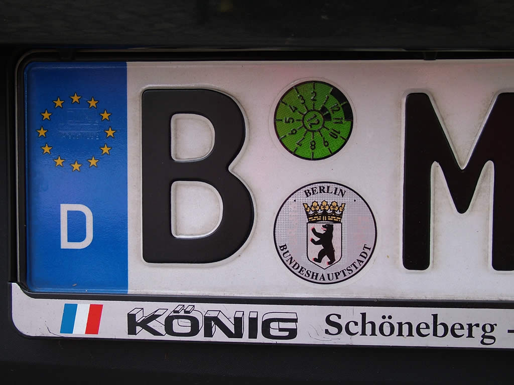 Photo: Berlin car plate