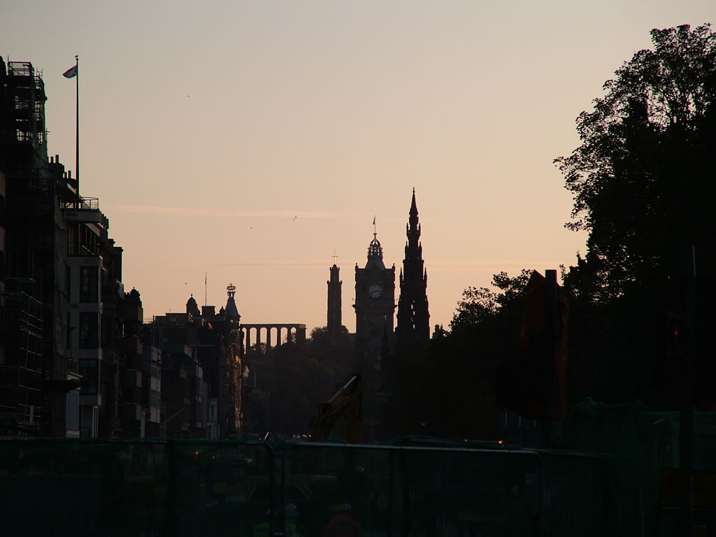 Photo: Silhouette along Princes Street