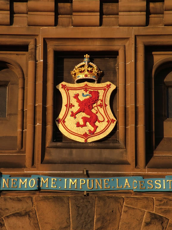 Photo: Coat of Arms, Edinburgh Castle